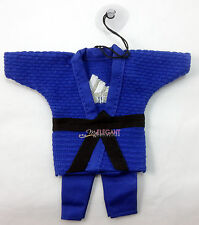 Adidas Judo Uniform Cotton Martial Arts Miniature String Keychain Suction - Blue