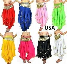 Harem Genie Baggy Gypsy Belly Dance Tribal Yoga Pant Trouser Bollywood
