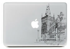 """Artistic church drawing sticker for Apple Macbook Air/Pro 13""""/15"""" laptop"""