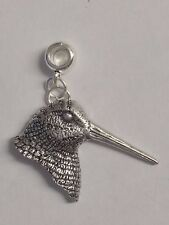 Woodcock's Head with 5mm Hole to fit Pendant Charm Bracelet European refB30