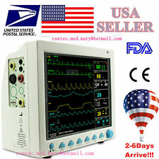 US seller ICU Patient Monitor 6 parameter Vital Sign ECG TEMP SPO2 NIBP RESP Pr