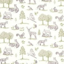 Studio G New Forest Wildlife Design in Natural Curtain Upholstery Craft Fabric
