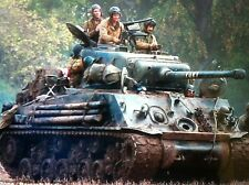 SHERMAN TANK 1943 WW2 US ARMY Fury 1:24 pressofusione di metallo