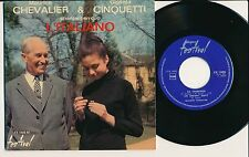 GIGLIOLA CINQUETTI MAURICE CHEVALIER 45 TOURS EP FRANCE L'ITALIANO (GUY BEART)