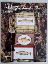 Vintage '00 Freshwater Trout Counted CROSS STITCH Patterns by JANET POWERS