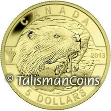 Canada 2013 Oh! Canada Series #2 Beaver $5 1/10 Ounce Pure Gold Proof