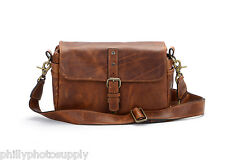 "ONA ""The Bowery"" Antique Cognac Leather Camera Handcrafted Premium Leather Bag"