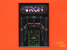 "Tron marquee/bezel  2x3"" fridge/locker magnet arcade Bally Midway Disney"