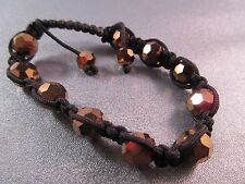 Bronze Shamballa Chinese Crystal Faceted 10mm Bracelet 1pc
