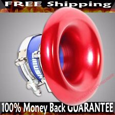 "RED 3"" UNIVERSAL Aluminum Turbo Intake/Short RAM Super Velocity Stack w/silicone"