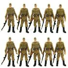 Lot 10 Russian Soldiers Troopers Indiana Jones Figures With Accessory Loose Gift