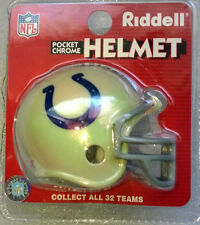 NFL Riddell American Football Pocket Chrome Traditional Helmet INDIANAPOLIS COLT