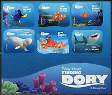 MALDIVES ISLANDS  2016  DISNEY FINDING DORY SHEET OF SIX MINT NH