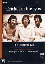 CRICKET in the '70s The CHAPPELL Era & Highlights 1977 Test DVD NEW SEALED 70's