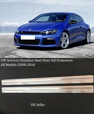 VW SCIROCCO 2 DOOR 2008-2015 STAINLESS STEEL DOOR SILL PLATES WITH EMBOSSED LOGO
