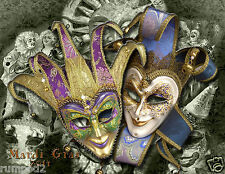 Mardi Gras Poster/ 2014 New Orleans/17x22 inches/Masks/Beads/Bourbon Street