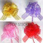 10 Pom Pom Bow 50MM LARGE ORGANZA RIBBON PULL BOWS WEDDING PARTY GIFT WRAP UK