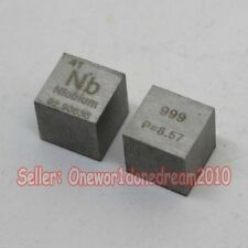 1 Pcs 99.9% High Purity Niobium Nb 10mm Cube Metal Carved Element Periodic Table