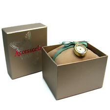 Accessorize Ladies' Fabric Band Watch with Decorative Bow S1066