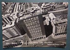 MILANO - VEDUTA AEREA -PIAZZA REPUBBLICA CON SCORCIO FERROVIA - 1956