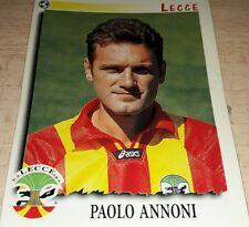 FIGURINA CALCIATORI PANINI 1997/98 LECCE ANNONI ALBUM 1998