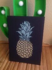Stand out retro kitsch pineapple A5 plain Sketchpad notepad notebook gift