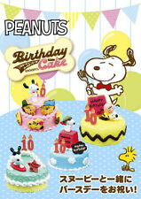 Re-Ment Miniature Peanuts Snoopy Birthday Cake Full set of 8 pcs