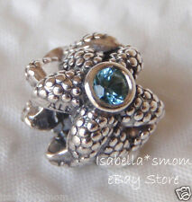 SEA STAR Genuine PANDORA Silver/TURQUOISE Beach Summer VACATION Charm~Bead NEW