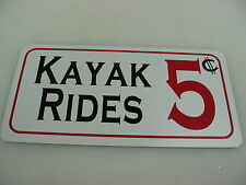 vintage style KAYAK RIDES Metal Sign for Sailboat Boat House Yacht Club Canoe