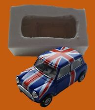 3D OLD STYLE MINI COOPER SILICONE MOULD FOR CAKE TOPPERS ETC