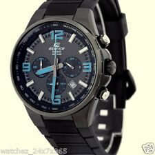 CASIO EDIFICE CHRONOGRAPH EFR-515PB-1A BLACK ION PLATED CASE PU BAND