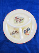 Antique Roma Stoneware Divided Baby Plate Nursery Rhyme House That Jack Built
