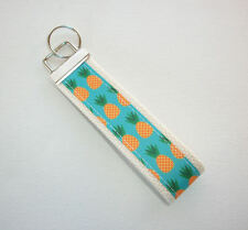 Key Fob - Wristlet - keyChain -  keylette - key chain pineapples natural