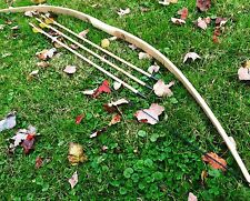 "50/55lb 71"" Traditional Hickory Longbow & Arrow Combo - Ringing Rocks Archery"