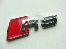 Plata ROJA METAL RS INSIGNIA AUDI RS3 RS4 RS5 RS6 RS7 S-Línea A1 A3 A4 A5 S3 S4 S5