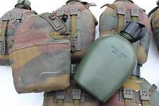 GENUINE DUTCH / BELGIAN ARMY WATER BOTTLE & INSULATED JIGSAW PATTERN CAMO COVER