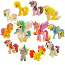 Lot 12x My Little Pony Cake Toppers PVC Action Figures Kids Girl Toy Dolls Hot
