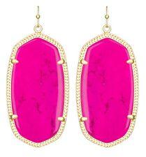 Kendra Scott Danielle Earrings in Magenta Pink & 14k Gold Plated