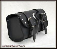 Sacoche Cuir pour moto - NEUF - leather Tool bag custom motorcycle harley