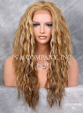 Unique Blonde mix HEAT SAFE Lace Front wig Curly Wavy NUO 2216