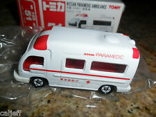 #51 MINT BOX NISSAN PARAMEDIC AMBULANCE RED & WHITE  1/78 SCALE TOMY TOMICA