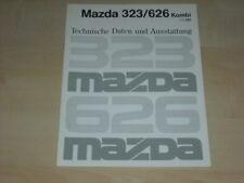 61995) Mazda 323 626 Kombi technische Daten & Ausstattung Prospekt 01/1991