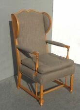 Vintage Monterey Style Accent Wingback Accent CHAIR Mid Century Modern
