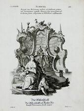 c1750 Scientia Science Wissenschaft Ptolemaeus Allegorischer Kupfer Wang