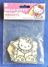 "Set of 2 Wooden Hello Kitty Refrigerator Magnets 2"" x 2-3/4"" c2012 Sanrio Co NIP"