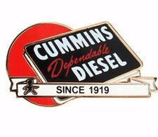 Cummins hat pin lapel dodge decal plaque diesel badge truck since 1919 red ball