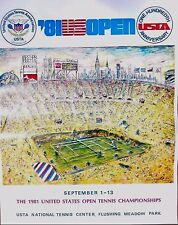 Original 1981 US Tennis Open Poster