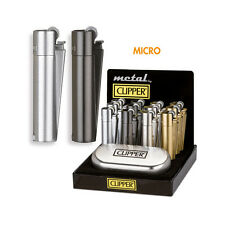★1 ACCENDINO CLIPPER MICRO METAL IN METALLO A GAS RICARICABILE METAL★