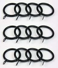 12 x Black Metal Curtain Rings to suit 28mm pole 36mm ID 45mm OD NEW