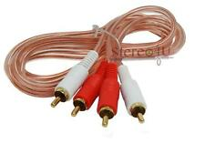 Clear 20 Feet RCA Car Amplifier Stereo OR Home Audio RCA Audio Cable